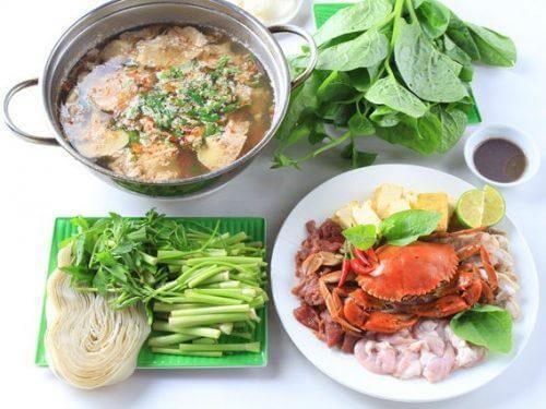 Cách nấu lấu cua hải sản