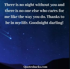 Goodnight darling messages