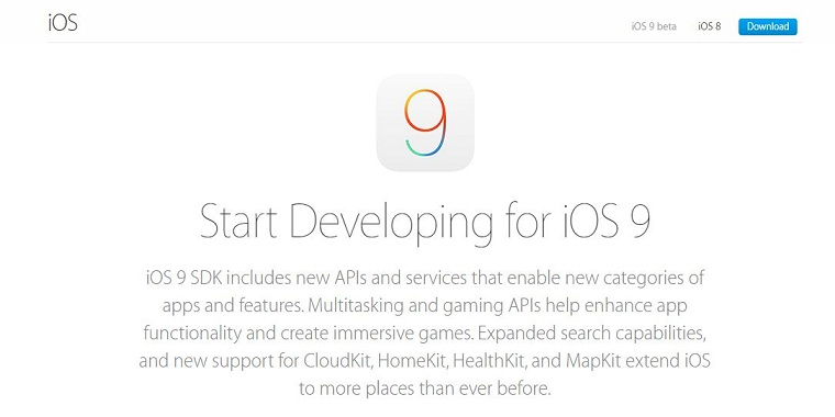 Nhấp vào liên kết iOS 9 beta trong menu chính và chọn thiết bị của bạn.