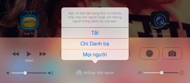 Trao đổi dữ liệu siêu nhanh với AirDrop trên iOS 7