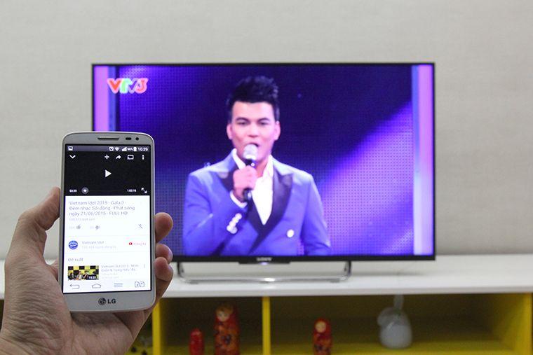 Chiếu YouTube từ điện thoại lên TV