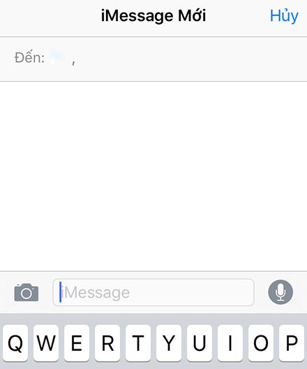 Hãy bắt đầu bằng cách nhắn tin iMessage