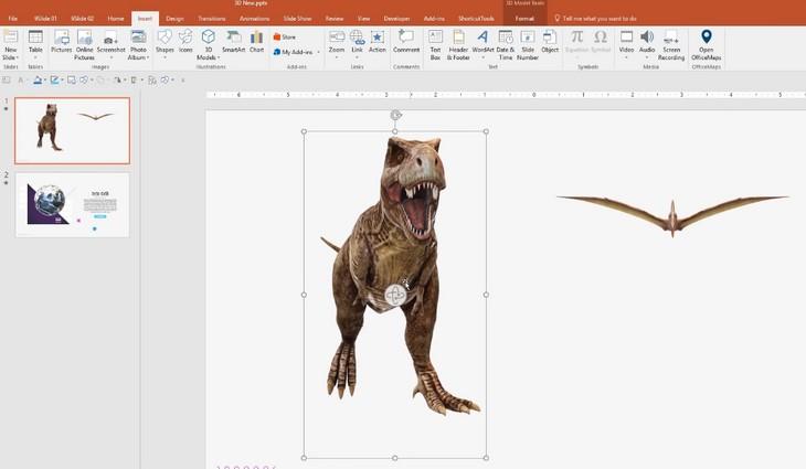 Cách chèn hình ảnh 3D trong Microsoft PowerPoint 365