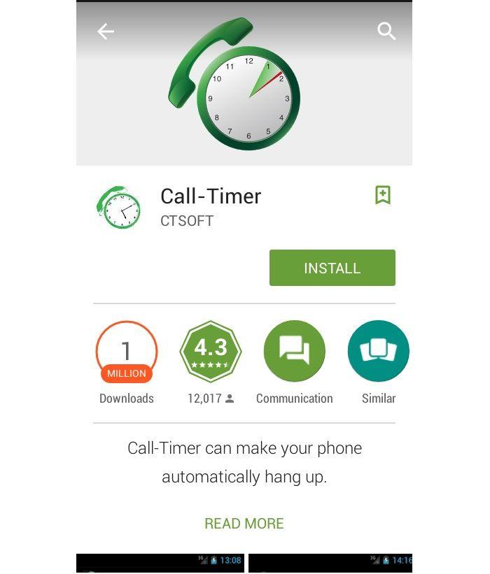 Trước hết, hãy truy cập Google Play Store, tải ứng dụng Call Timer và cài đặt trên thiết bị của bạn. Bạn cũng có thể tải xuống tại đây.