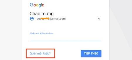 Cách lấy mật khẩu Google bằng số điện thoại