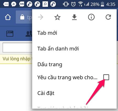 Yêu cầu web máy tính