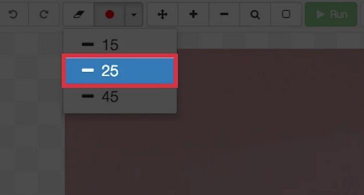 Thay đổi kích thước con trỏ công cụ đánh dấu để bạn có thể xóa hình mờ