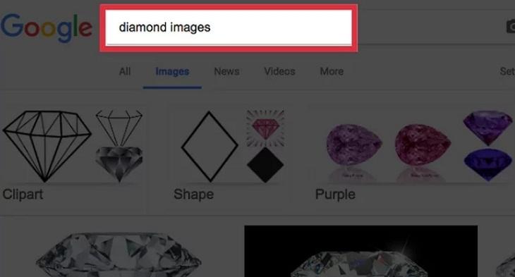 Tìm kiếm trên Google Hình ảnh để tìm hình ảnh không được đánh dấu chìm