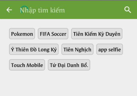 Tìm kiếm một ứng dụng