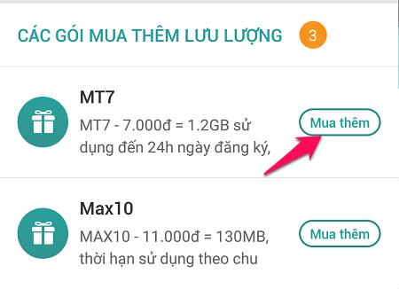 Có cách nào để đăng ký lại gói data MT7 Viettel 7.000đ / 1,2 GB / ngày không?