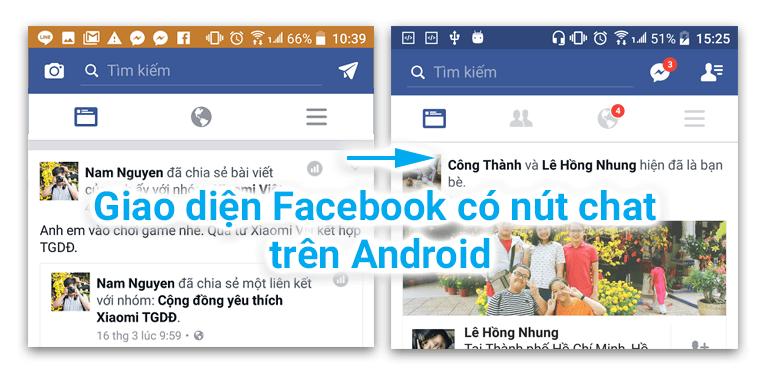 Đưa giao diện Facebook cũ trở lại Android bằng nút trò chuyện