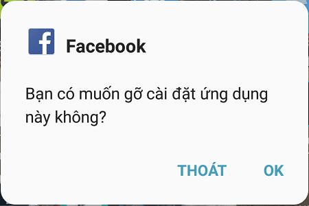 Xóa Facebook và Messenger trong thiết bị