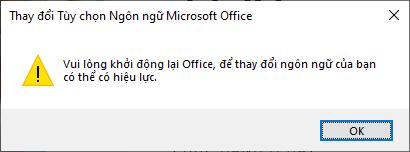 Khởi động lại phần mềm