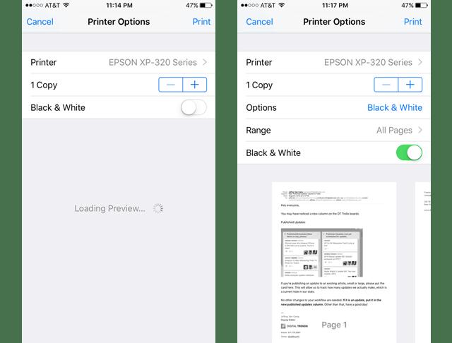 Hướng dẫn in bằng Apple AirPrint