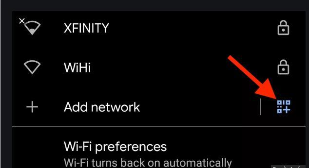 Kết nối Wifi với mã QR trên Android 10