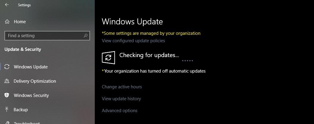 Đảm bảo hệ điều hành được cập nhật