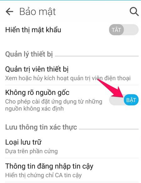 Hướng dẫn cài đặt ứng dụng trên Android bằng tệp APK