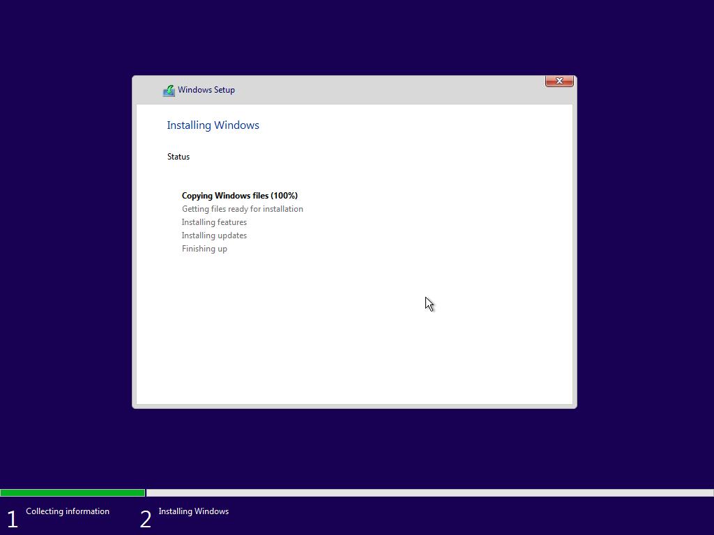 Windows 10 sẽ được cài đặt