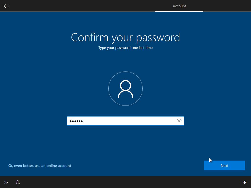 Nhập mật khẩu máy tính
