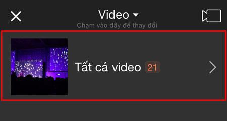 Chọn một video để chỉnh sửa