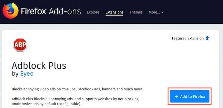 Chặn quảng cáo trong trình duyệt Firefox