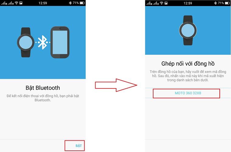Bật Bluetooth và kết nối với đồng hồ của bạn