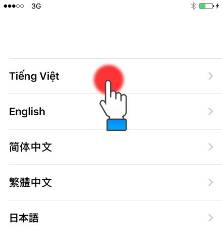 Chọn ngôn ngữ (Tiếng Việt)