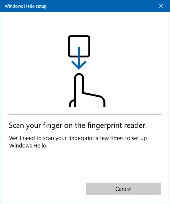 Chạm vào ngón tay bạn muốn sử dụng để đăng nhập vào máy quét vân tay