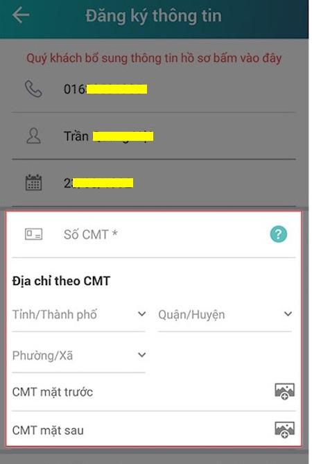 Kiểm tra và cập nhật thông tin trước khi khóa sim Vietel