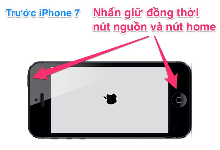 IPhone bị treo bất ngờ - đối với các mẫu trước iPhone 7