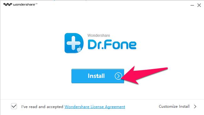 Cài đặt Wondershare Dr.Fone