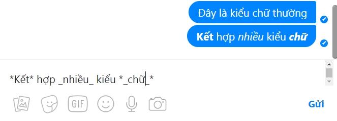 Mẹo thay đổi kiểu phông chữ khi trò chuyện với Messenger,