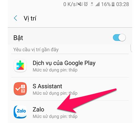 Chọn một ứng dụng