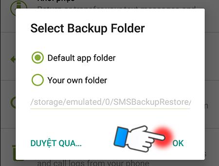 Sao lưu và khôi phục tin nhắn trên Android vào Email, Dropbox hoặc Google Drive