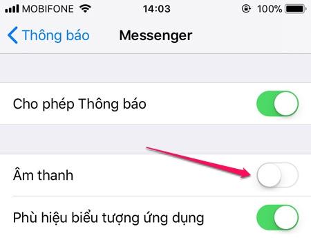 Tắt thông báo ứng dụng trên iPhone