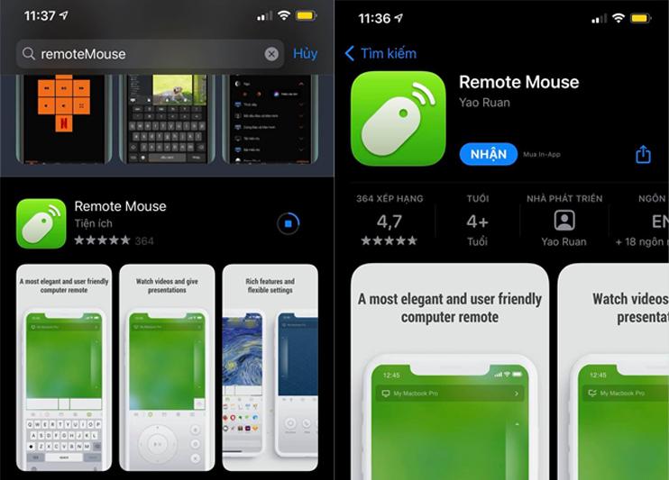 Tải xuống ứng dụng remoteMouse miễn phí trên điện thoại di động của bạn
