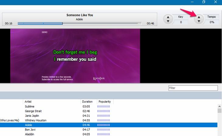 Ứng dụng hát karaoke trên máy tính
